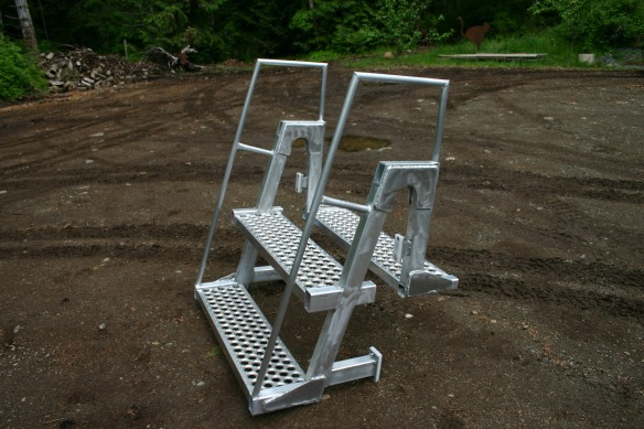 removable aluminum stairs